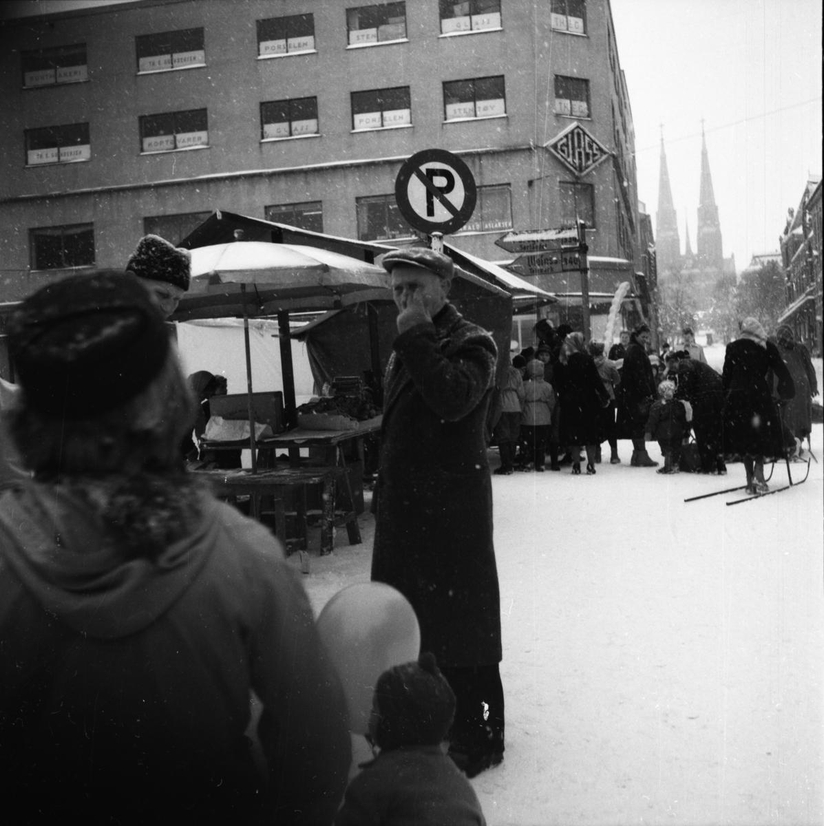 """Vardens arkiv. """"Marken åpnes""""  23.02.1954"""