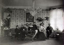 Interiörbilder från Samuelssonska villan. Från ca 1910-tal.