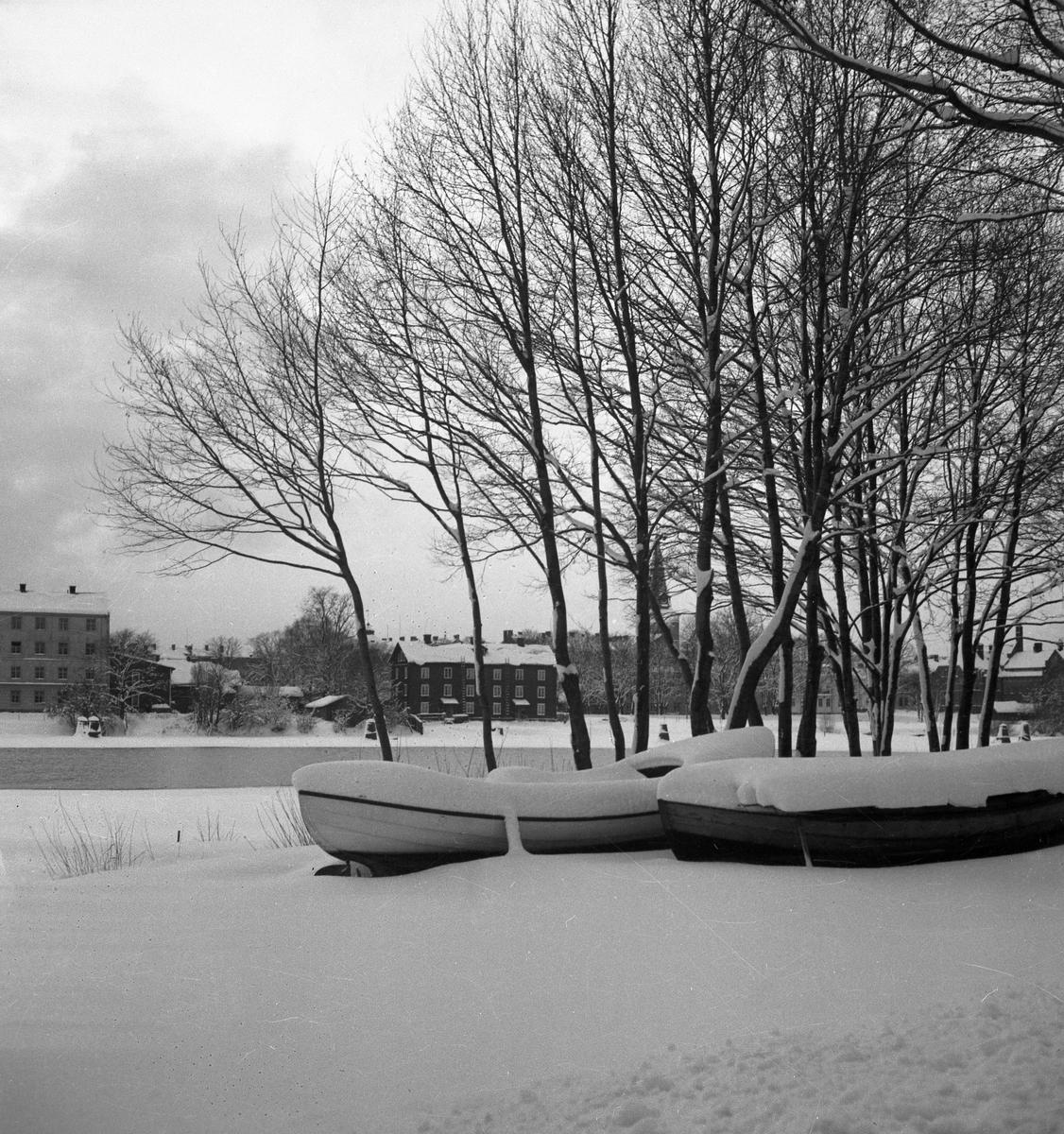 Vinter i Karlstad på 1930-talet.