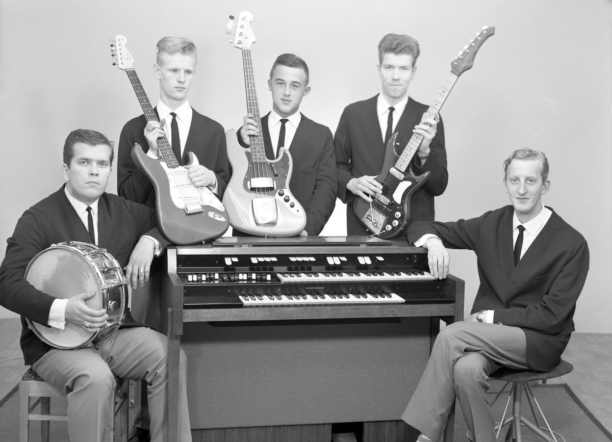 The Quintones orkester från Arvika på en bildserie tagen 1962.