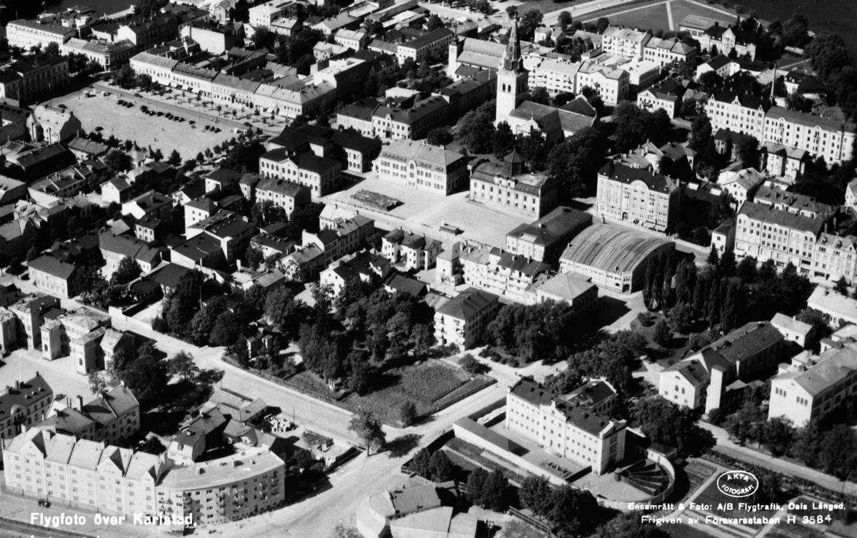 Vy över centrum år 1946.