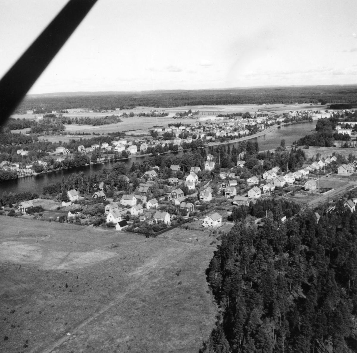 Flygbild över Sommaro och Romstad 1947.