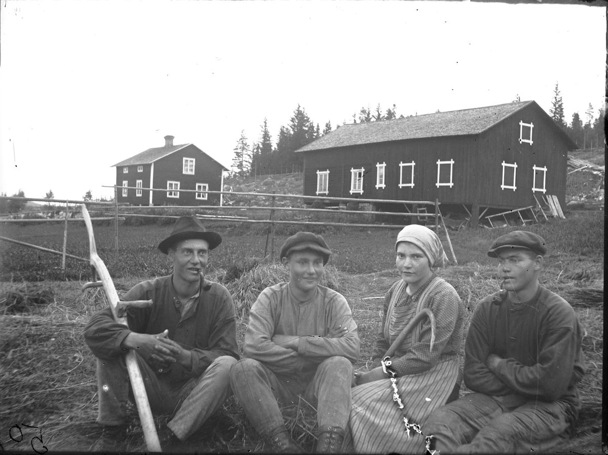 Ivar, David, Vivi och Bengt Rehnström.