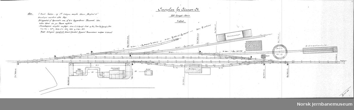 Hell-Sunnanbanen Sporplan for Sunnan St.