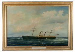 Hjulångare Chapman [Oljemålning]