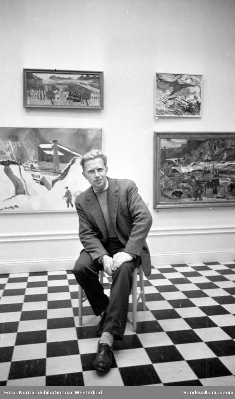 """Lars Målare deltar i en diskussion på Sundsvalls Museum, ämnet för dagen är """"Har konstnären lämnat publiken""""."""