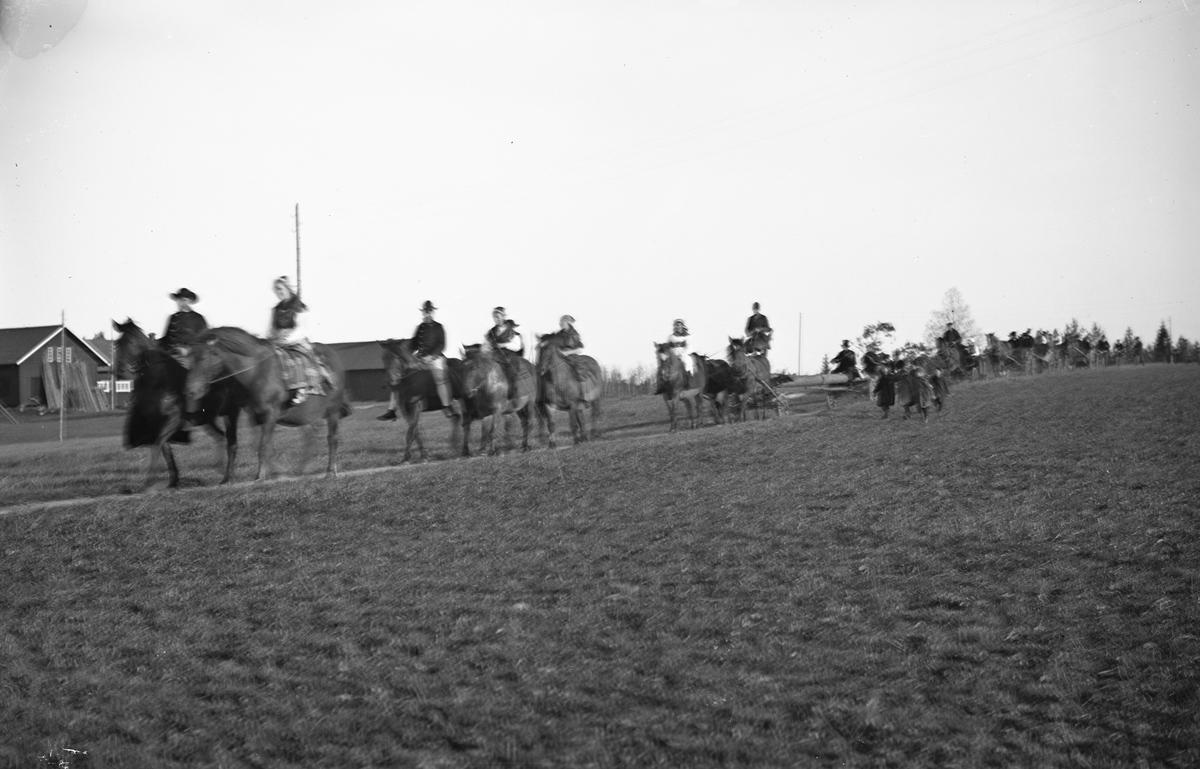 Kryckeståt för Edit Törner och Rune Ryttberg, Särstaholm. Den 15 maj 1938