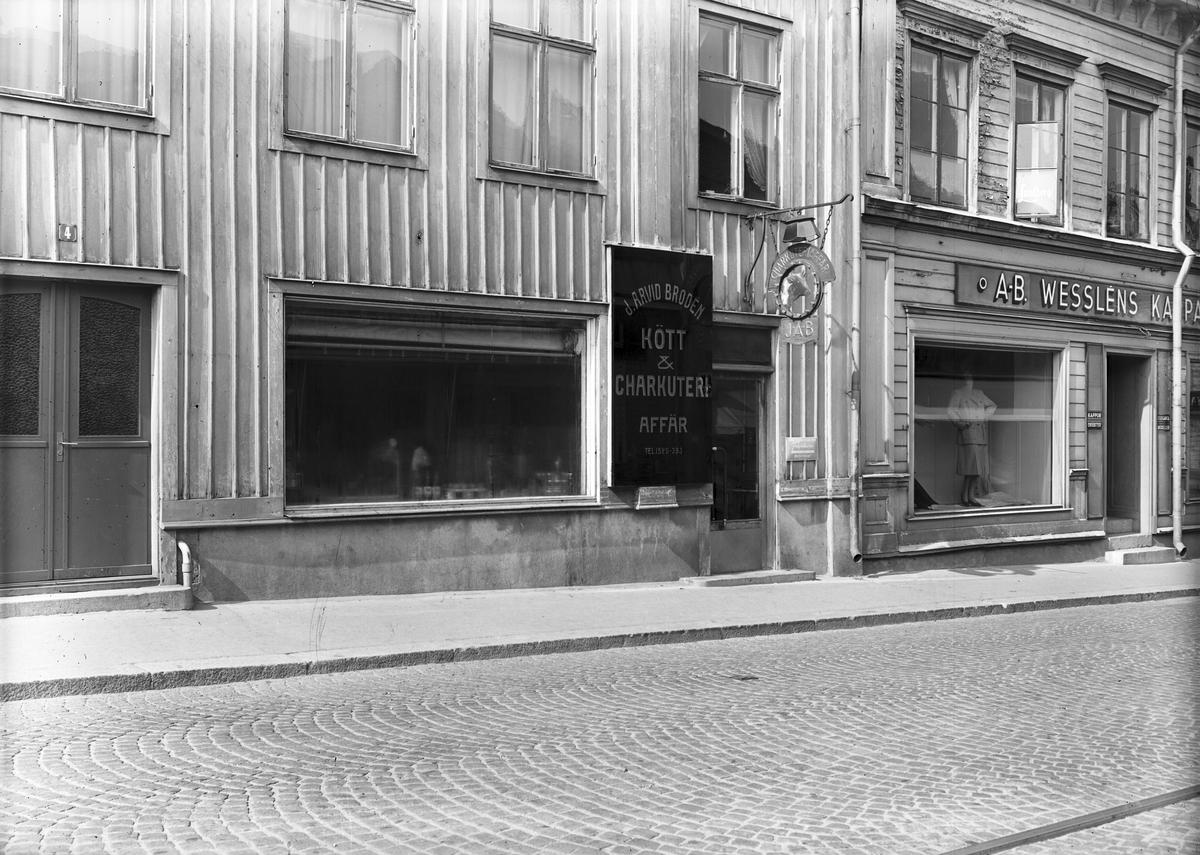 J. A. Brodén. Kött och Charkuteriaffär. Juli 1944