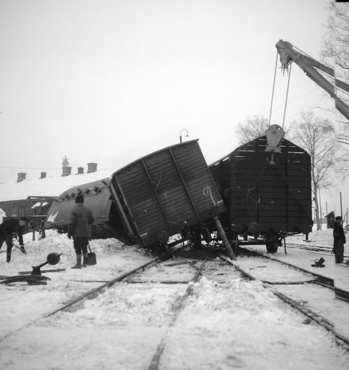 Reportage för Gefle Dagblad. Jernvägsolyckan vid Norra Station. November 1937