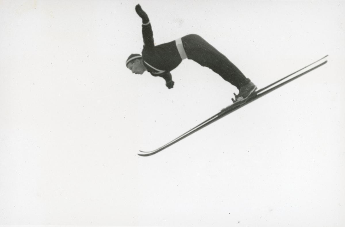 Athlete Birger Ruud in action