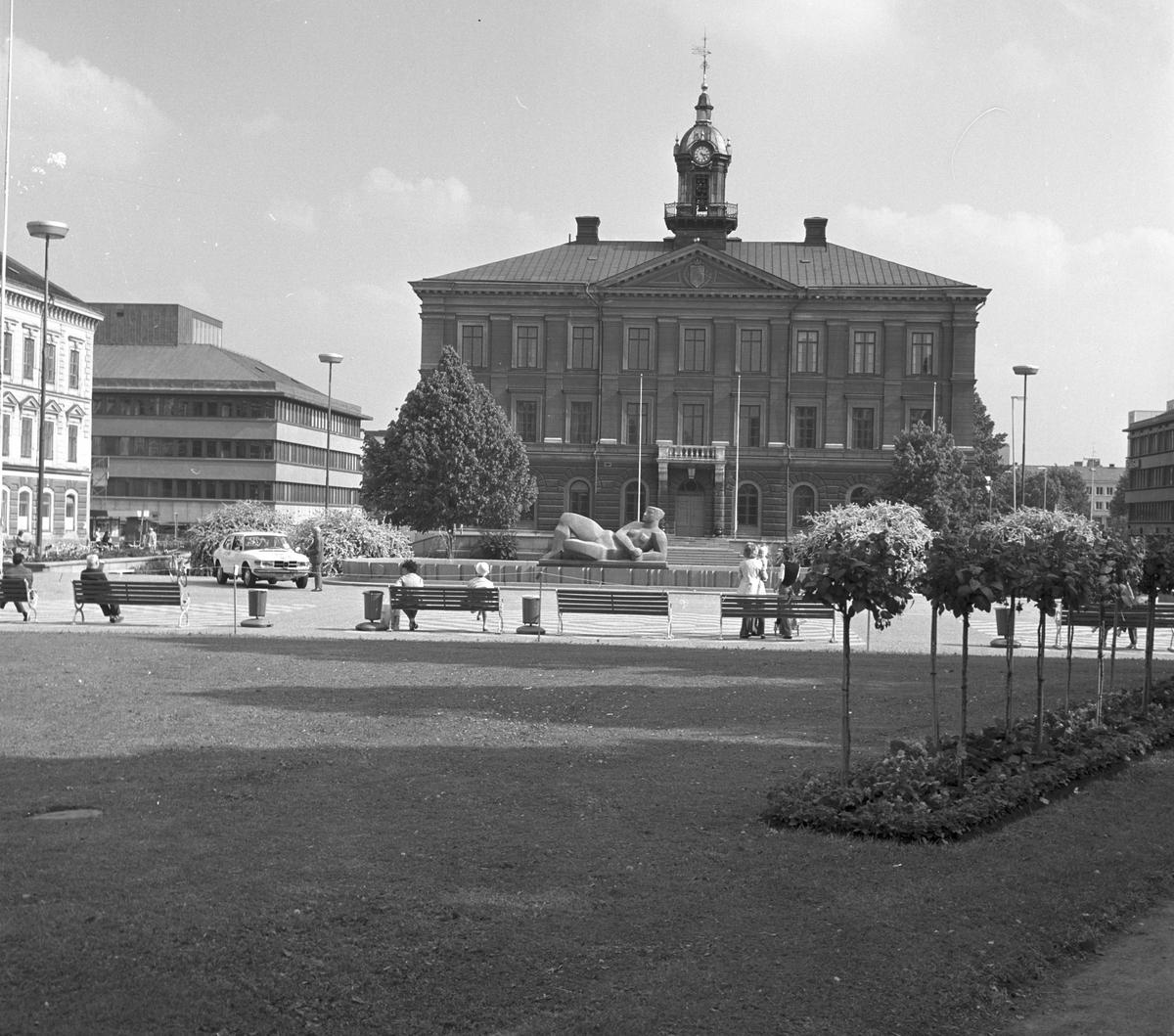 Rådhuset, den 14 juni 1973. Uppdrag av Gävle Kommun, Synnermark