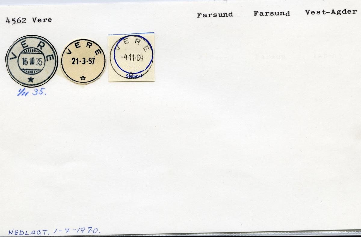 4562 Vere, Farsund, Vest-Agder