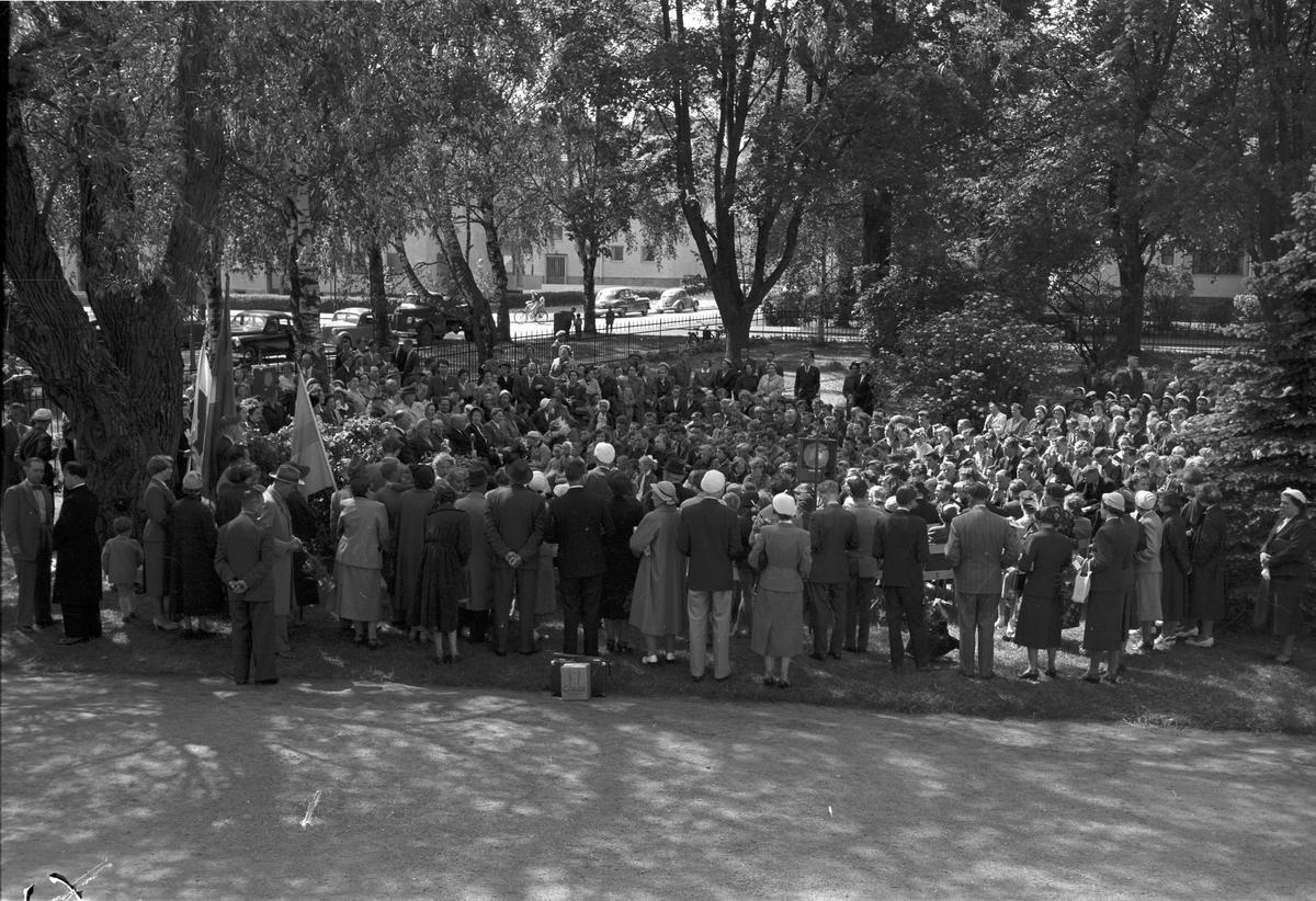 Borgarskolan. Examensdag och skolavslutning.            12 juni 1953.