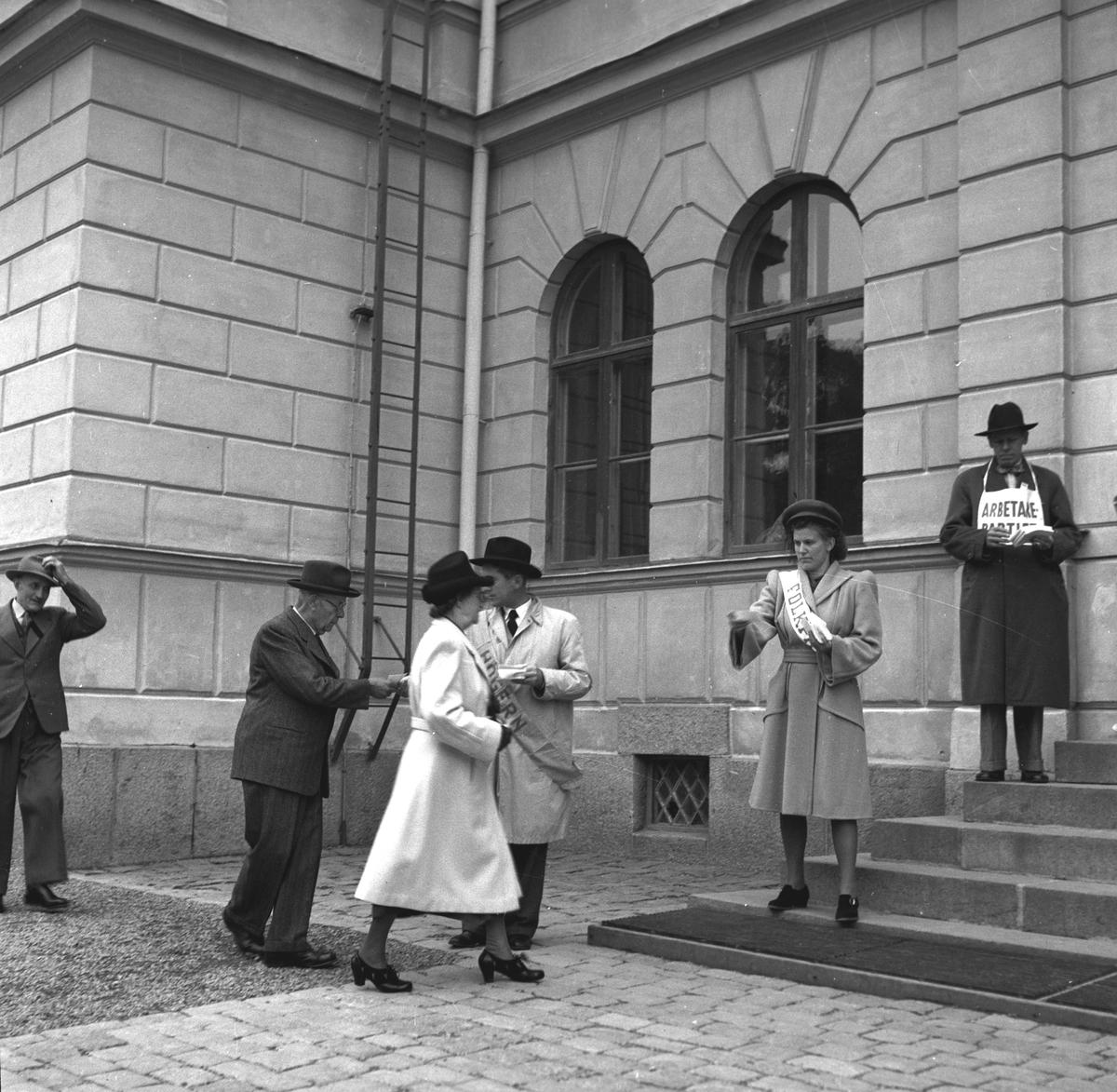 Valbilder tagna under valdagen. 19 september  1948.