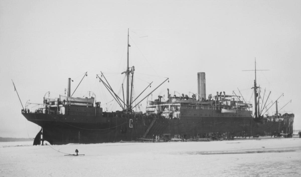 Tyskt transportfartyg vid Åland 1918