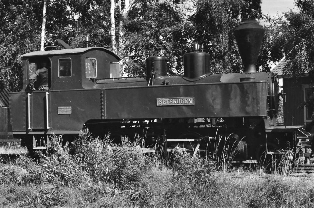 Damplokomotiv nr. 4 Setskogen på Fossum stasjon på Urskog-Hølandsbanen, Tertitten.