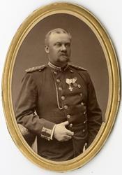 Porträtt av Carl Axel Magnus Sandels, kapten vid Västgötadal