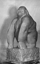 Skulptur av Tage Larsson (1903-1980), Resteröd, Ljungskile