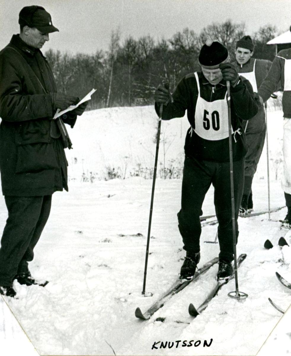Regementsmästerskap, skidor 10 km, A 6. Förrådsman Knutsson.