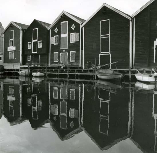 Sjöbodarna vid Mpljen, Hudiksvall.