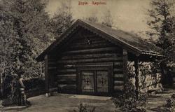 Postkort. Norsk Folkemuseum. Røgstuen