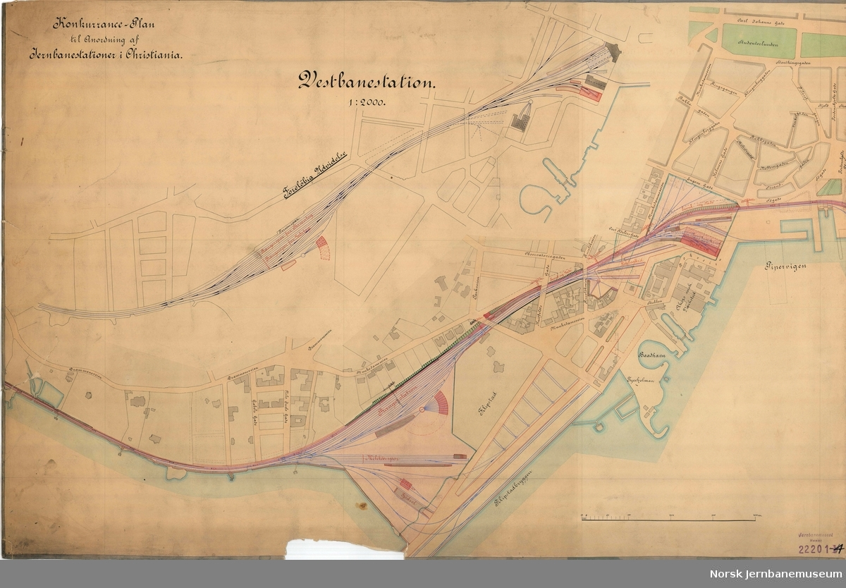 Vestbanestationen - Konkurranse-Plan til Anordning af Jernbanestationer i Christiania