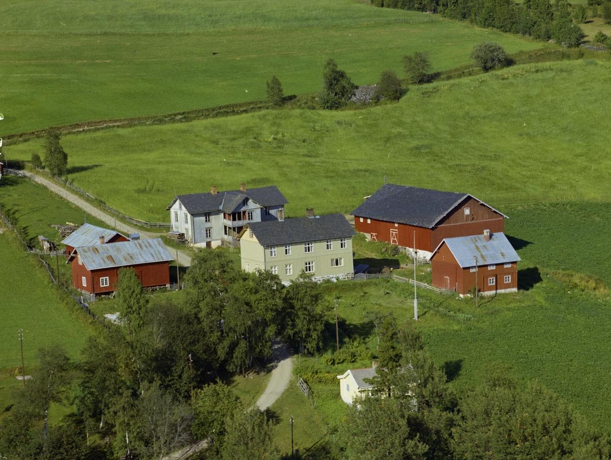Gårdsbruk, to store våningshus, Øverbygda, Østre Gausdal