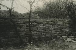 En mur vid ett befästningsverk.