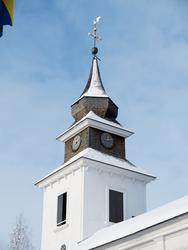 Vilhelmina kyrka, snö