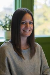 Porträtt Rebecca Rosenqvist på sitt tjänsterum