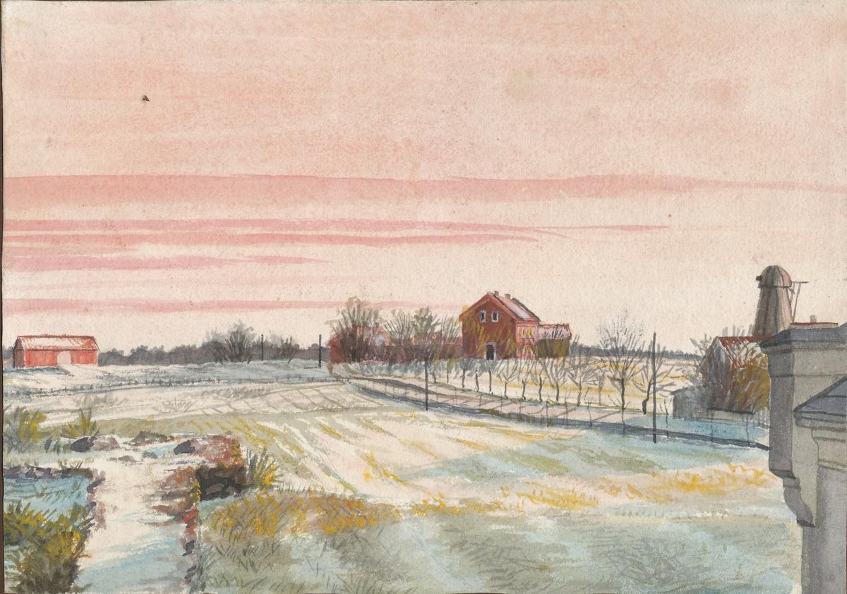 Akvarell, fra Løkken i Tønsberg