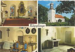 Räpplinge kyrka. Då den svenske kungens sommarslott Solliden