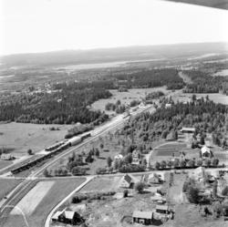 Flygfoton över främst de norra delarna av Söråker, vid Ala o