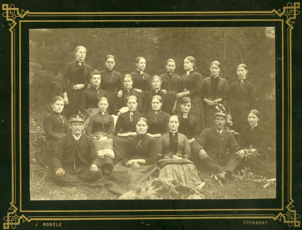Tjenerskapet ved Breidablikk, ca 1900.
