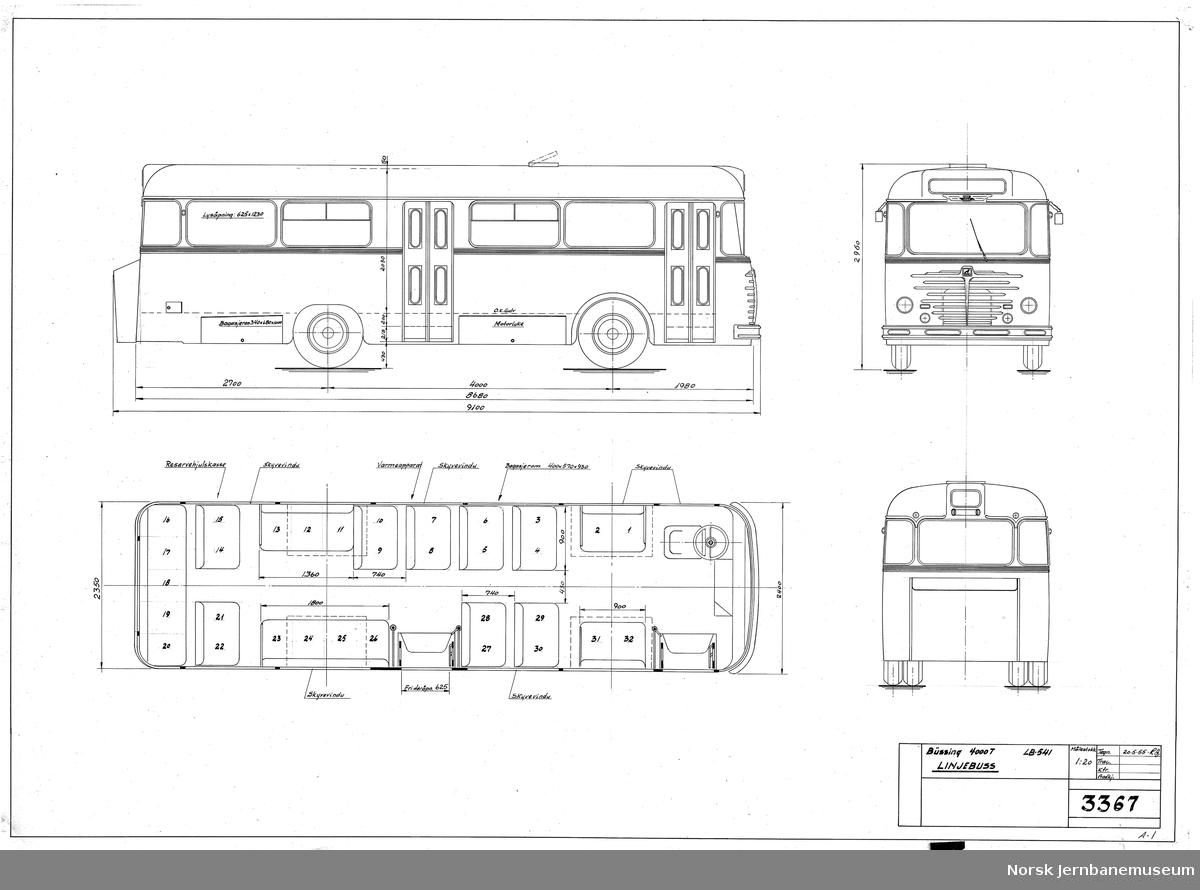 HØKA LB-541, Büssing 4000T, linjebuss