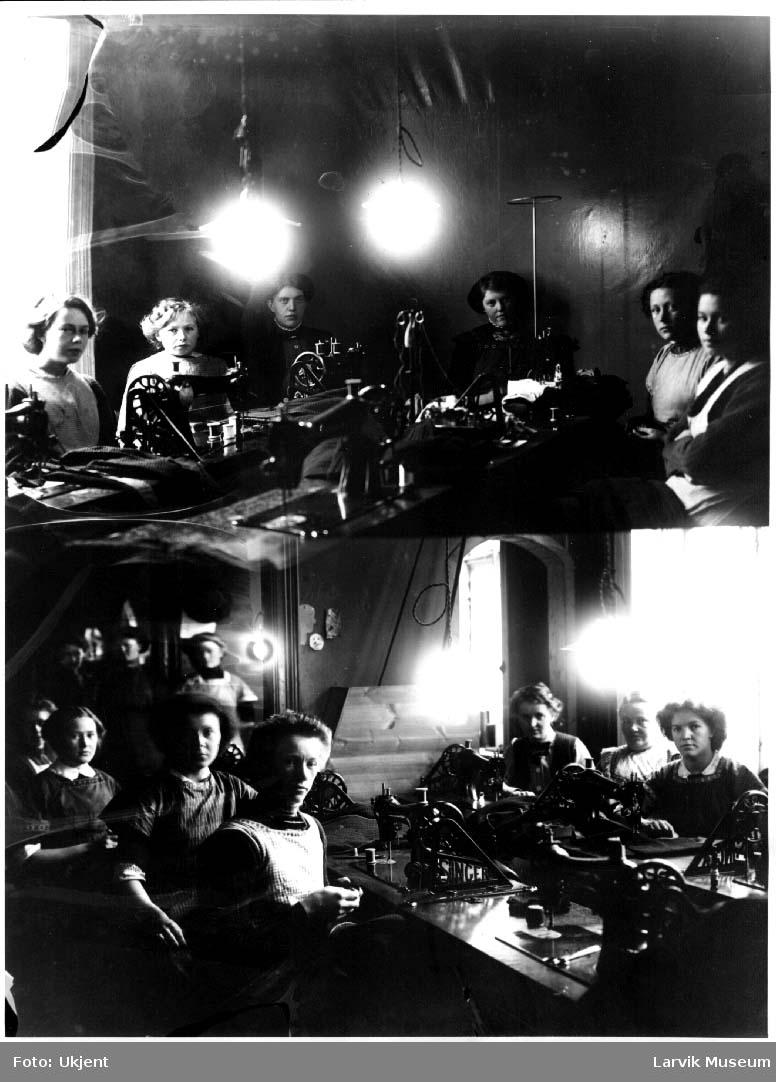 Syersker, trikotasjefabrikk, kvinner, Jacobsens trikotasje.