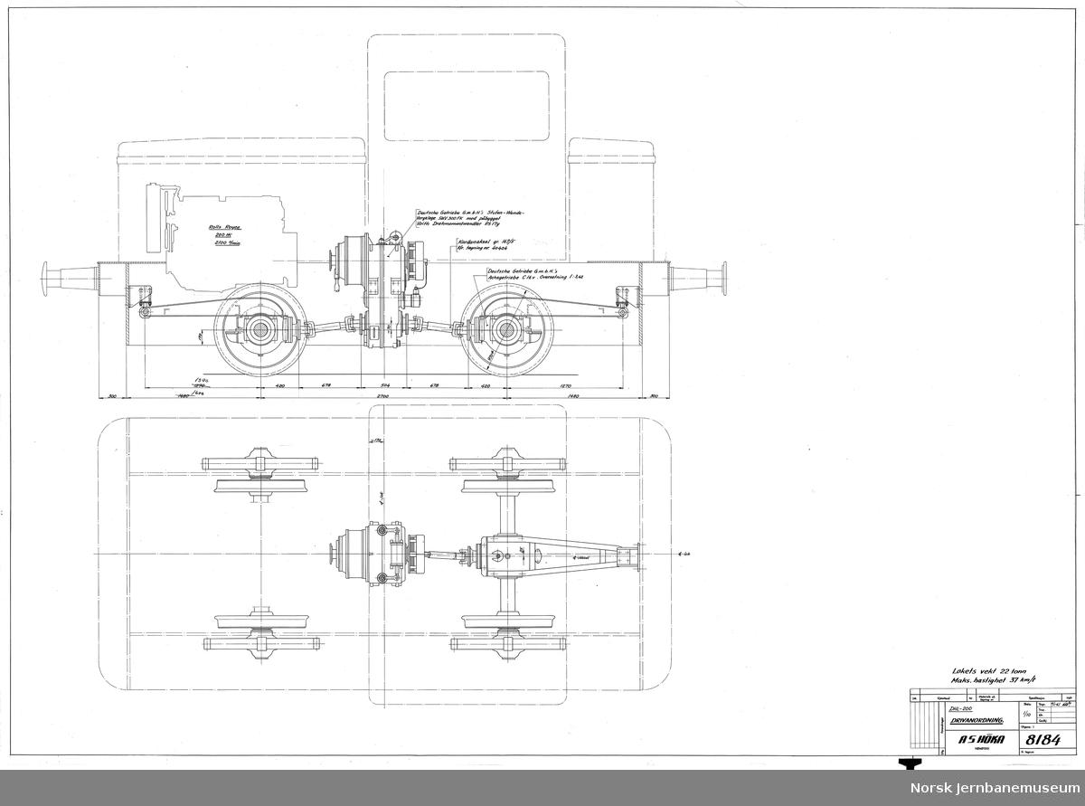 HØKA DHL-200 Drivanordning  Prosjekt, ikke realisert (se også JMT-HØKA-8186)