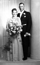 Brudpar Emil Henry Zetterberg, Gävle 20 september 1941.