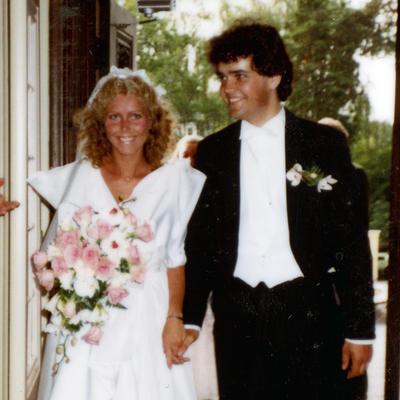 Brudepar på 80-tallet