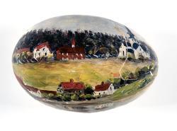 Egg, bemalt,dekorert, Ringsaker kirke, prestegård, Ringstran