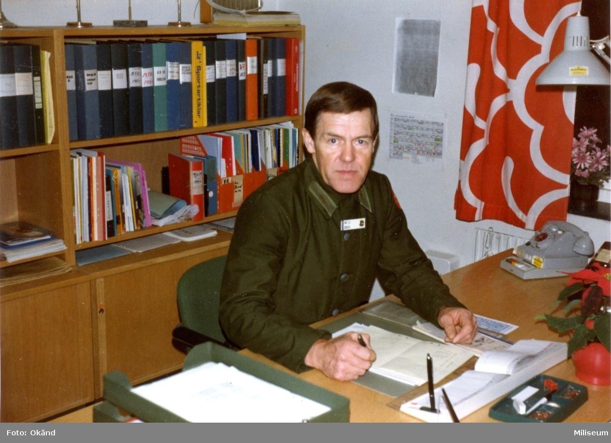 Arnold Bäck. Chef, rörlig styrka. Kasernkomp. A 6.