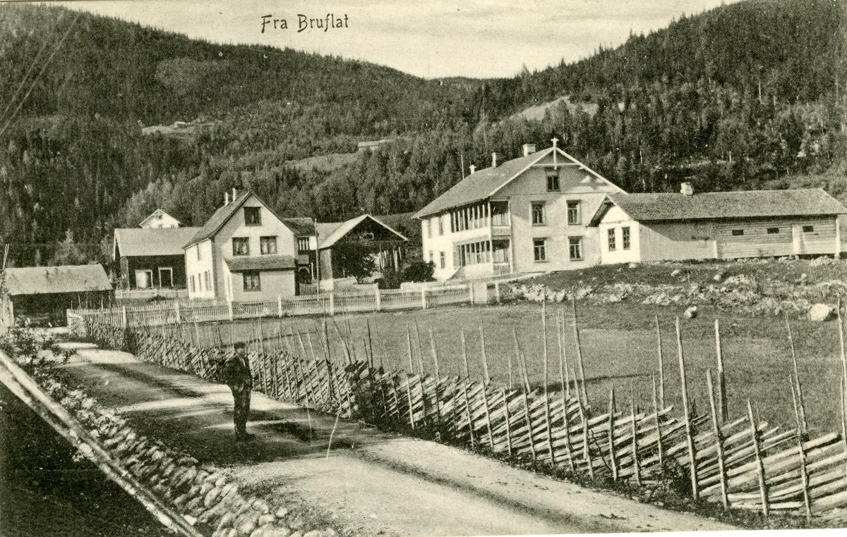 Postkort med motiv fra Bruflat, Etnedal.