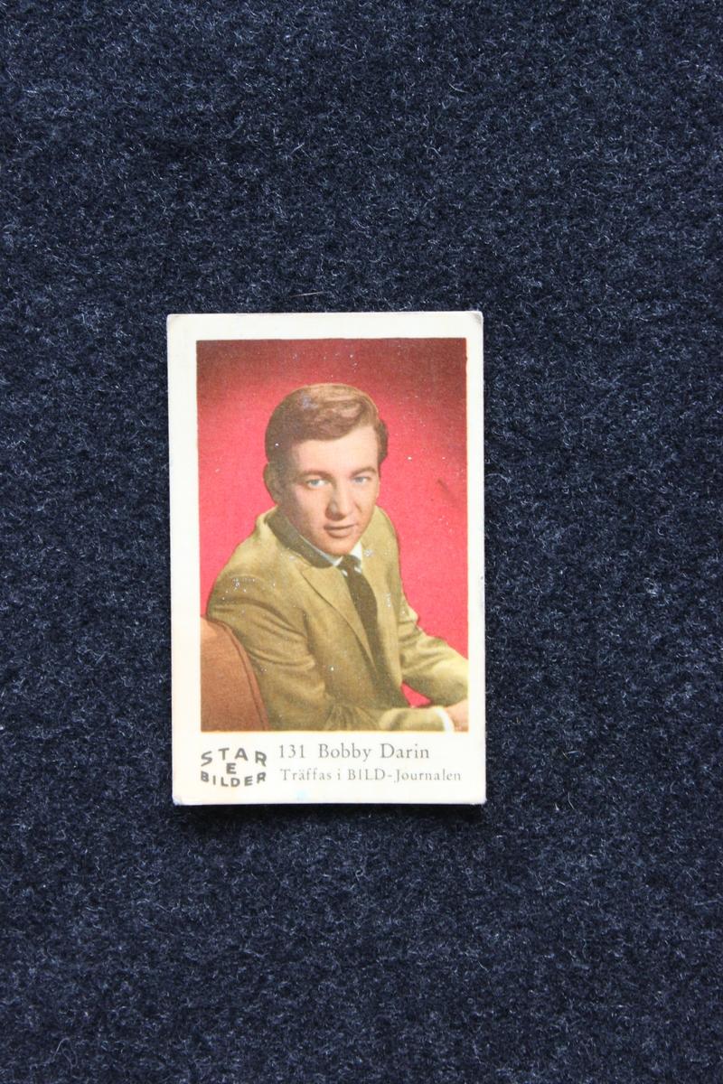Filmstjärnebild med foto föreställande Bobby Darin