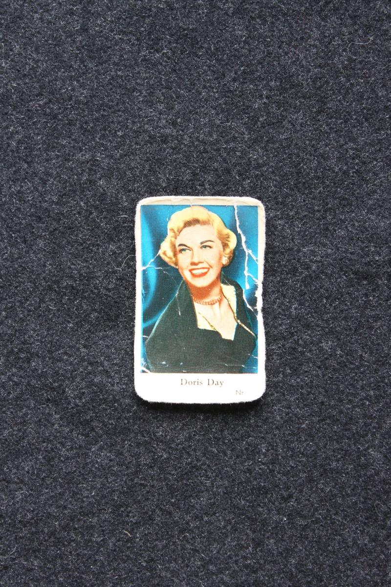 Filmstjärnebild  med foto föreställande Doris Day