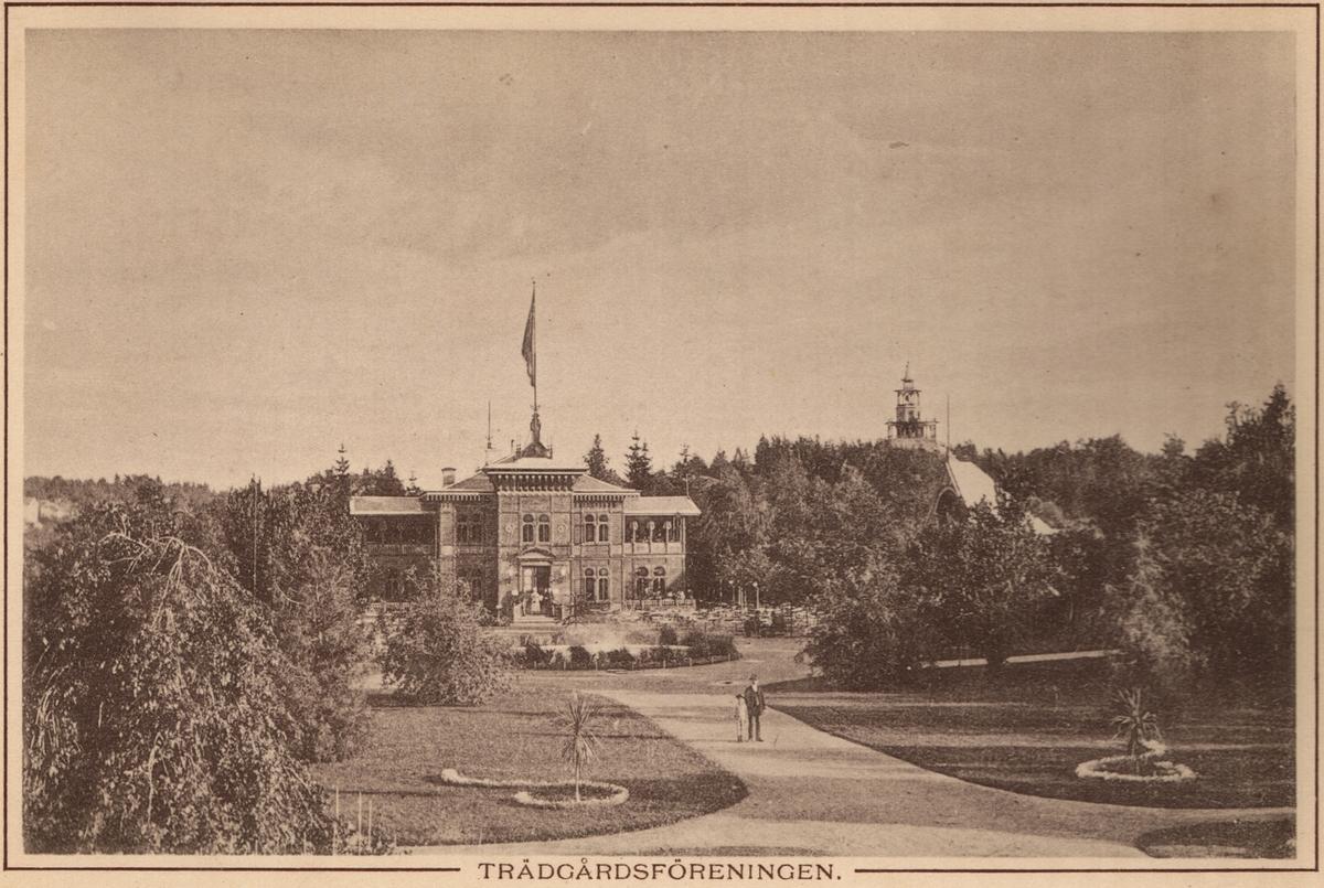 Linköpings Trädgårdsförening, anlades 1859 av ett bolag på ett av Serafimerordensgillet arrenderat område. Den välskötta anläggningen utvidgades 1871 och är upplåten för allmänheten mot det att staden till bolaget årligen erlägger ett belopp av 300 rdr.  Restaurangen byggdes 1881 efter ritningar av Rudolf Ström, dess fasad ändrade utseende många gånger. Restaurangen brann ner till grunden 14 april 1977 och har inte återuppbyggts.n.