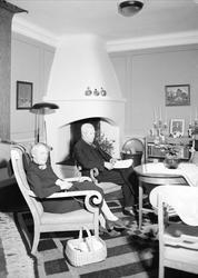 Interiör - Nilssons pensionat, sannolikt Uppland 1939