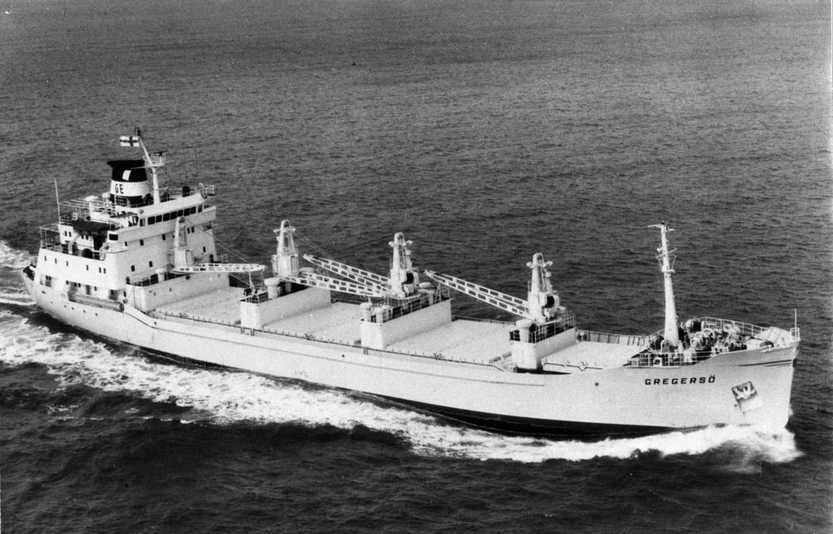 Lastfartyget ms Gregersö ägdes av Mariehamns Rederi Ab (Firma Gustaf Erikson) 1967- 1983.