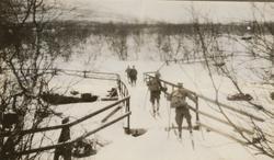 En utflykt till fjällen mars 1929. Abiskojokk