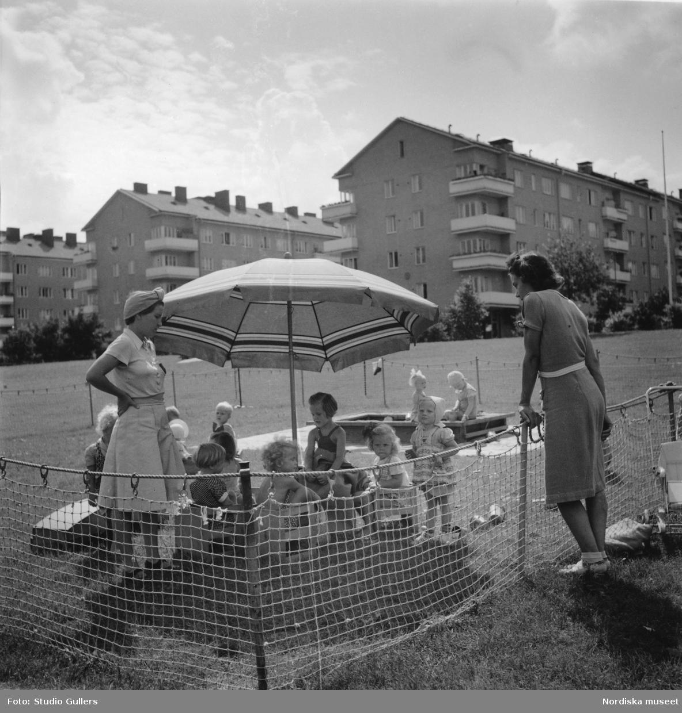 Lekplats i Fredhäll.