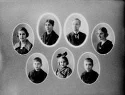 Personporträtt, 7 bröstbilder.Fotograf Sam Lindskogs familj